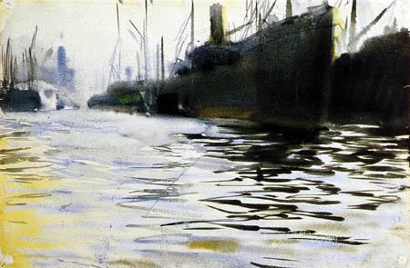 Anders Leonhard Zorn - Im Hamburger Hafen