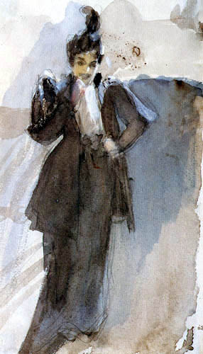 Anders Leonhard Zorn - Woman with cigarette