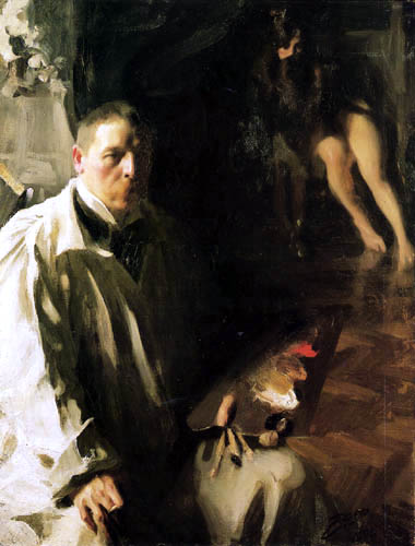Anders Leonhard Zorn - Selfportrait with a model