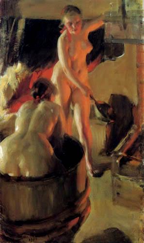 Anders Leonhard Zorn - Girl in the Sauna