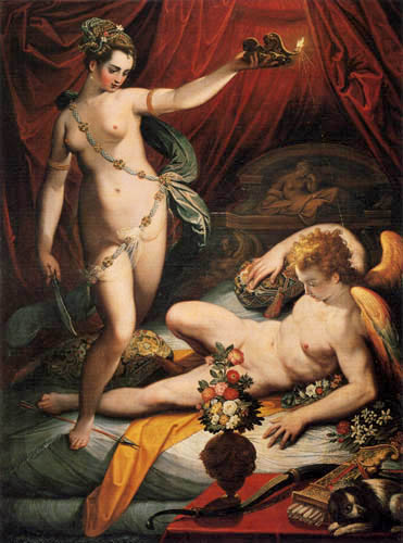 Jacopo Zucchi - Psyche and Cupid