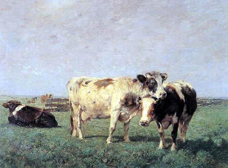 Heinrich Johann von Zügel - Pasture in Holland