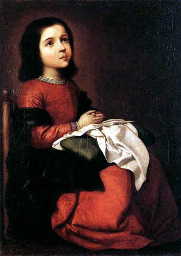 Francisco de Zurbarán - The youth of the Virgin