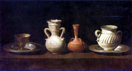 Francisco de Zurbarán - Still Life with cup, amphoras and pitcher