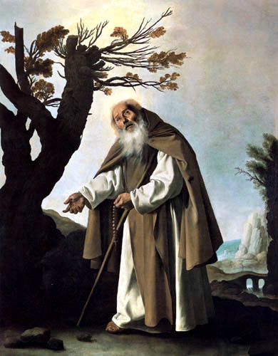 Francisco de Zurbarán - San Antonio Abad