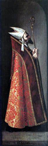 Francisco de Zurbarán - Saint Blaise