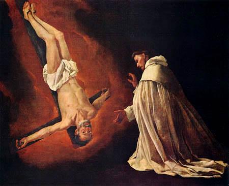 Francisco de Zurbarán - The vision of the St. Peter