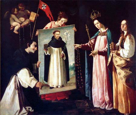 Francisco de Zurbarán - Aspect de la Vierge au moine de Soriano