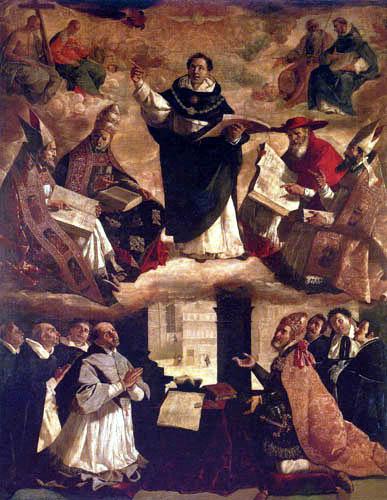 Francisco de Zurbarán - Die Apotheose des hl. Thomas von Aquino