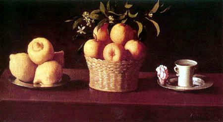 Francisco de Zurbarán - Stilleben mit Zitronen, Orangen und einer Rose