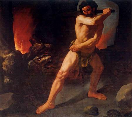 Francisco de Zurbarán - Herkules kämpft gegen den zweiköpfigen Hund