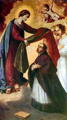 Francisco de Zurbarán - Imposition of alb to St. Ildefonso