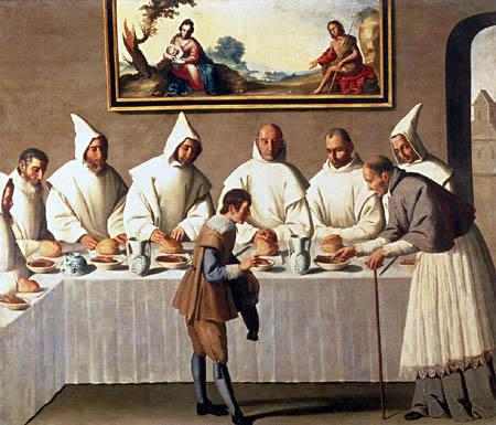 Francisco de Zurbarán - San Hugo in the refectory of the Carthusian
