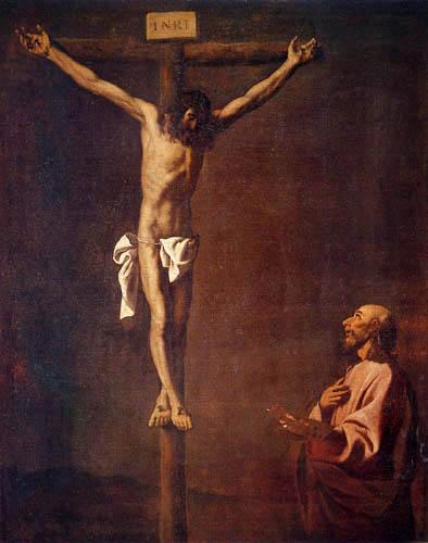 Francisco de Zurbarán - Saint Luke Before the Cross