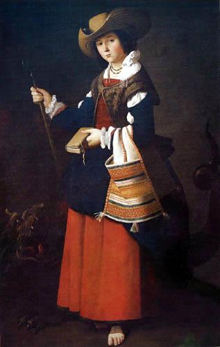 Francisco de Zurbarán - Santa Margarita