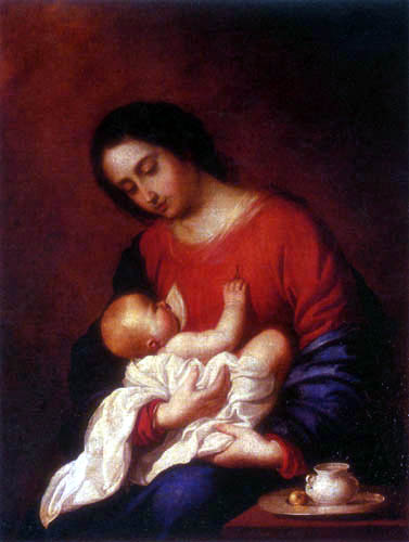 Francisco de Zurbarán - Virgin and Child